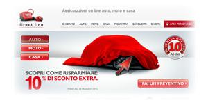 Assicurazione auto Direct Line: Promozione 10% di Sconto