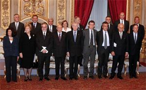 Ministri del Governo Monti in compagnia del Presidente Giorgio Napolitano
