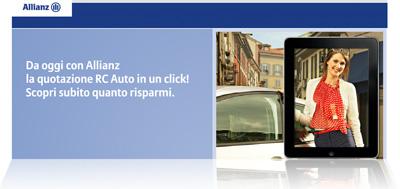 Concorso Allianz Fastquote 2012: pagina Internet