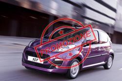 Peugeot 107 in promozione ad Aprile 2012