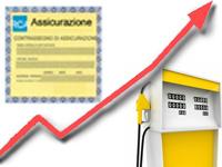 Aumenti RC Auto e prezzi del carburante
