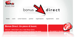 Bonus Direct: screenshot dal sito del programma per assicurati Direct Line