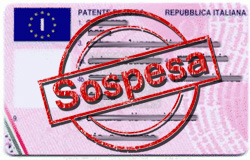 Patente a punti sospesa