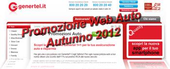 Assicurazioni Auto Genertel: Promozione Web Autunno 2012