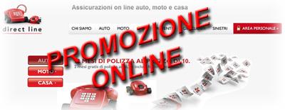 Promozione Direct Line: 2 Mesi di assicurazione auto gratis!