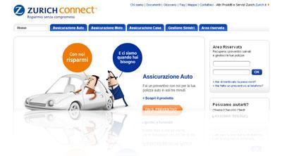 Analisi della compagnia assicurativa on-line Zurich Connect