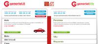 Genertel.it: istantanea dall'home page del portale della compagnia assicurativa