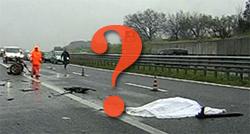 Incidente con veicolo non identificato