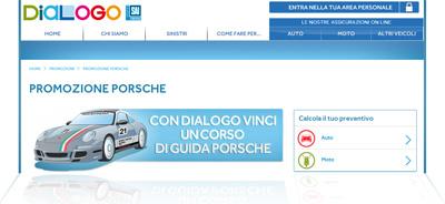 "Concorso Dialogo ""Vinci la Guida Sicura"" con Porsche: pagina Internet"