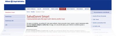 Assicurazione SalvaDanni Smart di Allianz: dal sito Internet di Lloyd Adriatico