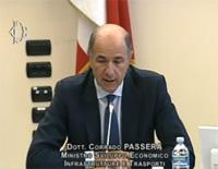 Il Ministro Corrado Passera durante l'audizione presso la Commissione Finanze della Camera